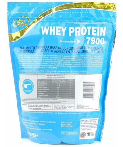 proteína whey protein gentech 1 kg - masa muscular - envios!