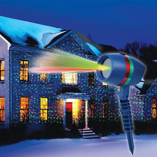 proyector luces de navidad - láser de colores - exteriores