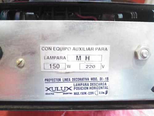 proyector reflector halogenado hqi xulux 150w