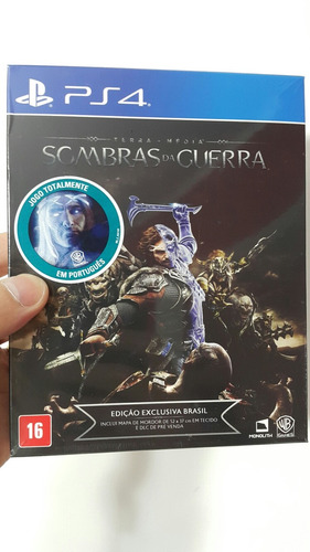 ps4 fisico shadow war ediction mapa tela dlc español sellado