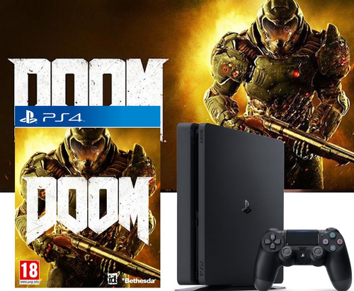ps4 slim 2017 1tb con doom de regalo