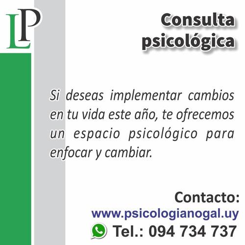 psicóloga - consulta psicológica - psicoterapia