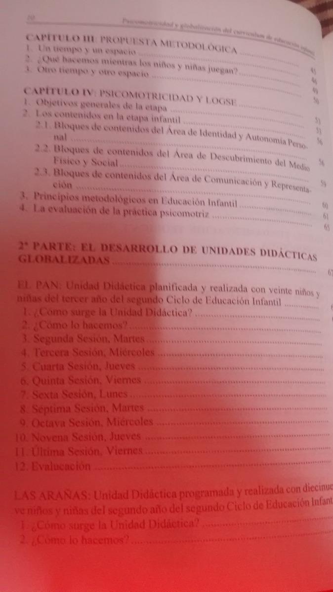 Psicomotricidad Y Globalización Del Curriculum De Educación - $ 500 ...