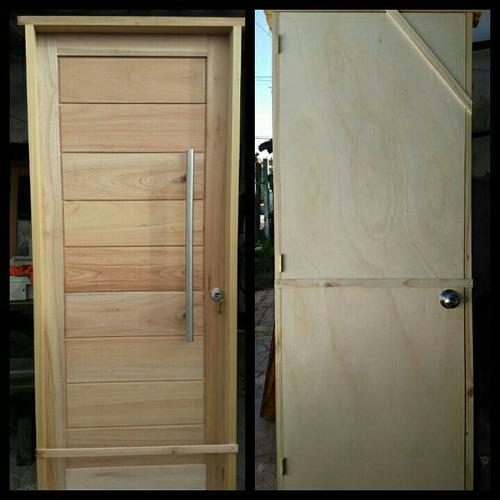 puerta de exterior e interior madera aberturas la casona