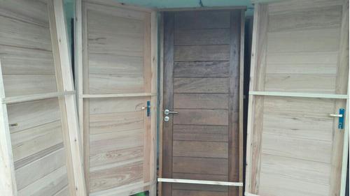 puerta exterior madera aberturas