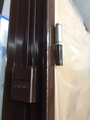puerta placa oblak cedro master  marco de chapa 70-10