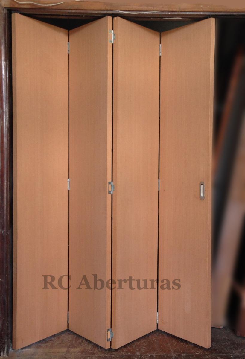 Puerta plegable a medida en madera ej 2 hojas ciegas u s 337 00 en mercado libre - Puertas plegables a medida ...