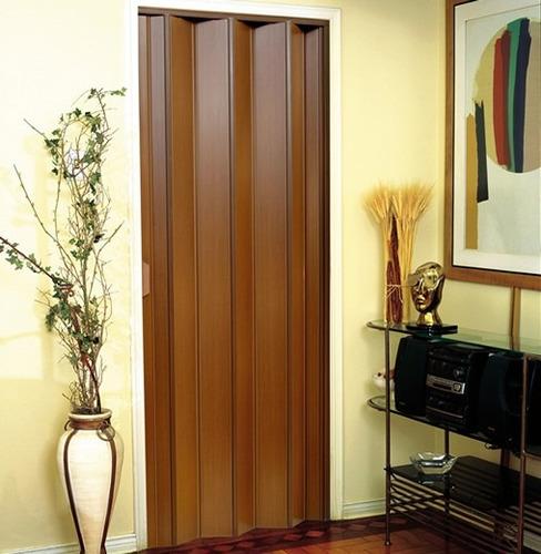 puerta plegable pvc - imitación madera 130 x 220