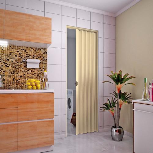 puerta pvc corrediza plegable 210 x 70 mulata cm 0,70 arena