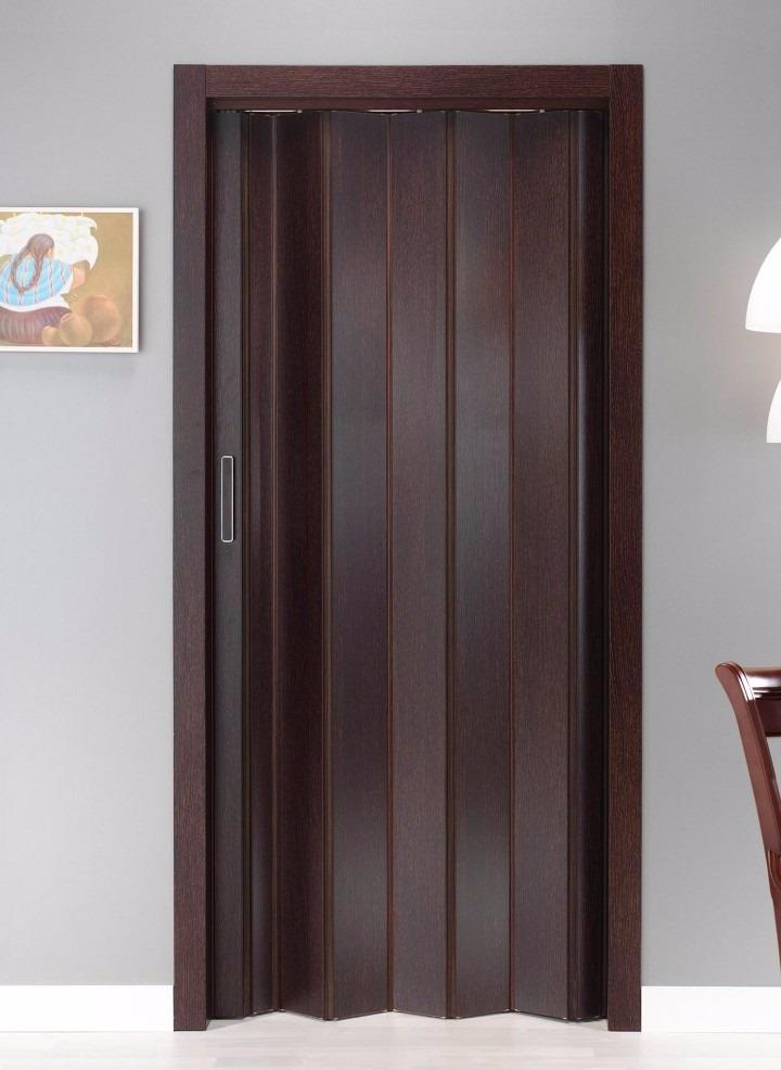 Puerta pvc interior plegable imitaci n madera 100 x for Puertas rusticas de madera interior