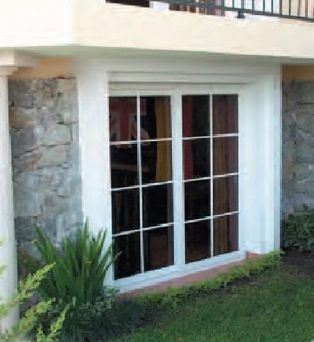 Puerta ventana pvc doble vidrio corrediza blanca 180x210 for Ventanas de pvc doble vidrio argentina