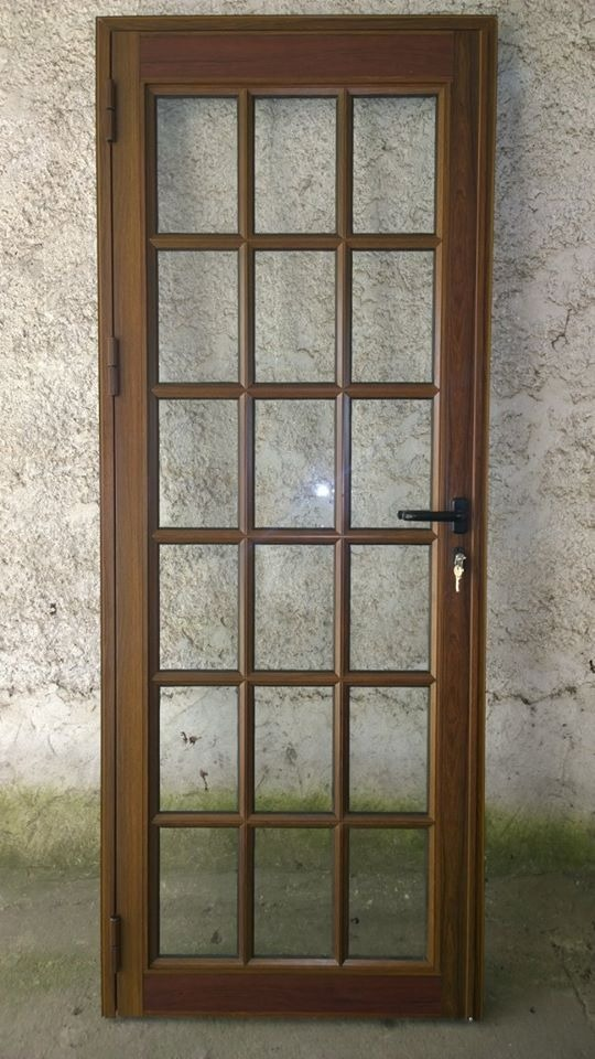 Puertas aluminio exterior interior coloniales muy segura - Puerta balconera aluminio ...