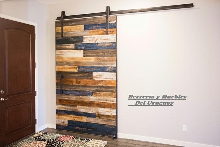 Puertas corredizas sistemas deslizantes hierro y madera for Modelos de puertas corredizas de madera