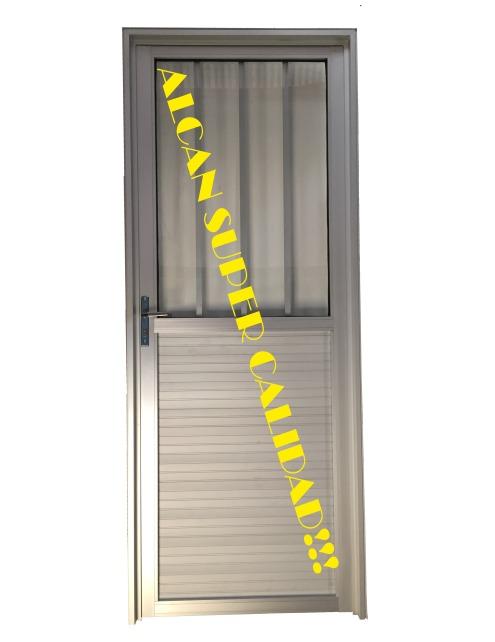 Puertas exterior aluminio 800x200 perfiles consulte precio - Puerta exterior aluminio precio ...