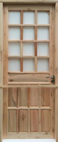 puertas exterior eucaliptus madera nuevas  colonial