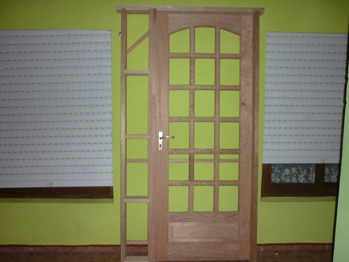 puertas madera cedro marco madera dura con acople