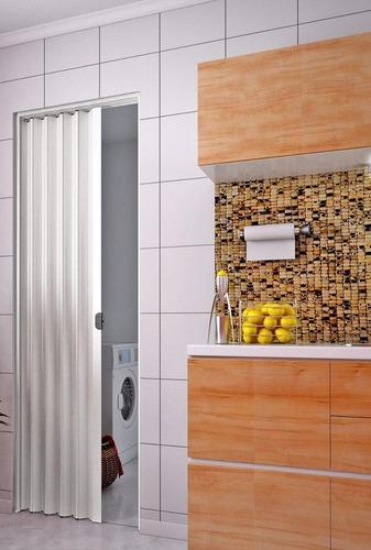 puertas plegables en pvc brasileras 070 x 210 colocadas