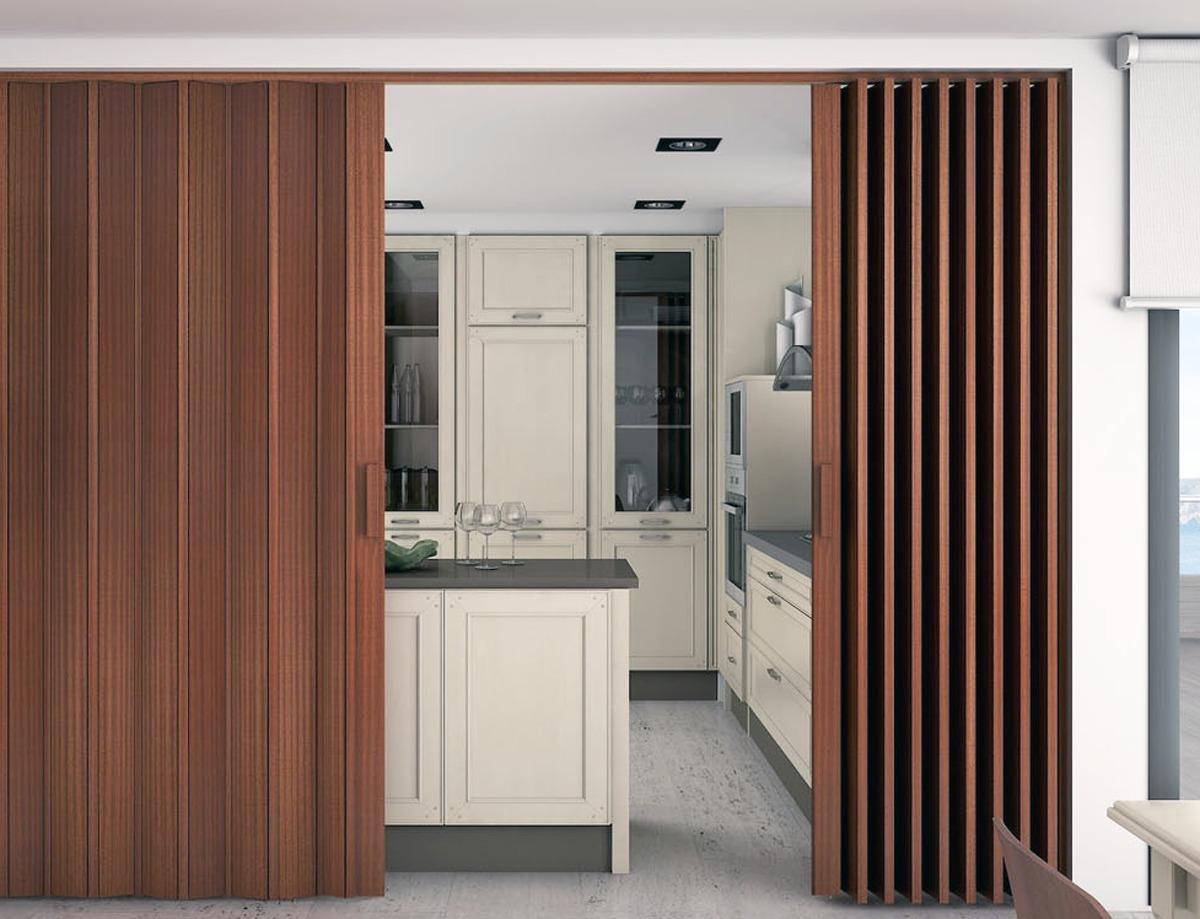 Puertas plegables madera clara y oscura 140 x 220 - Puertas de madera plegables ...