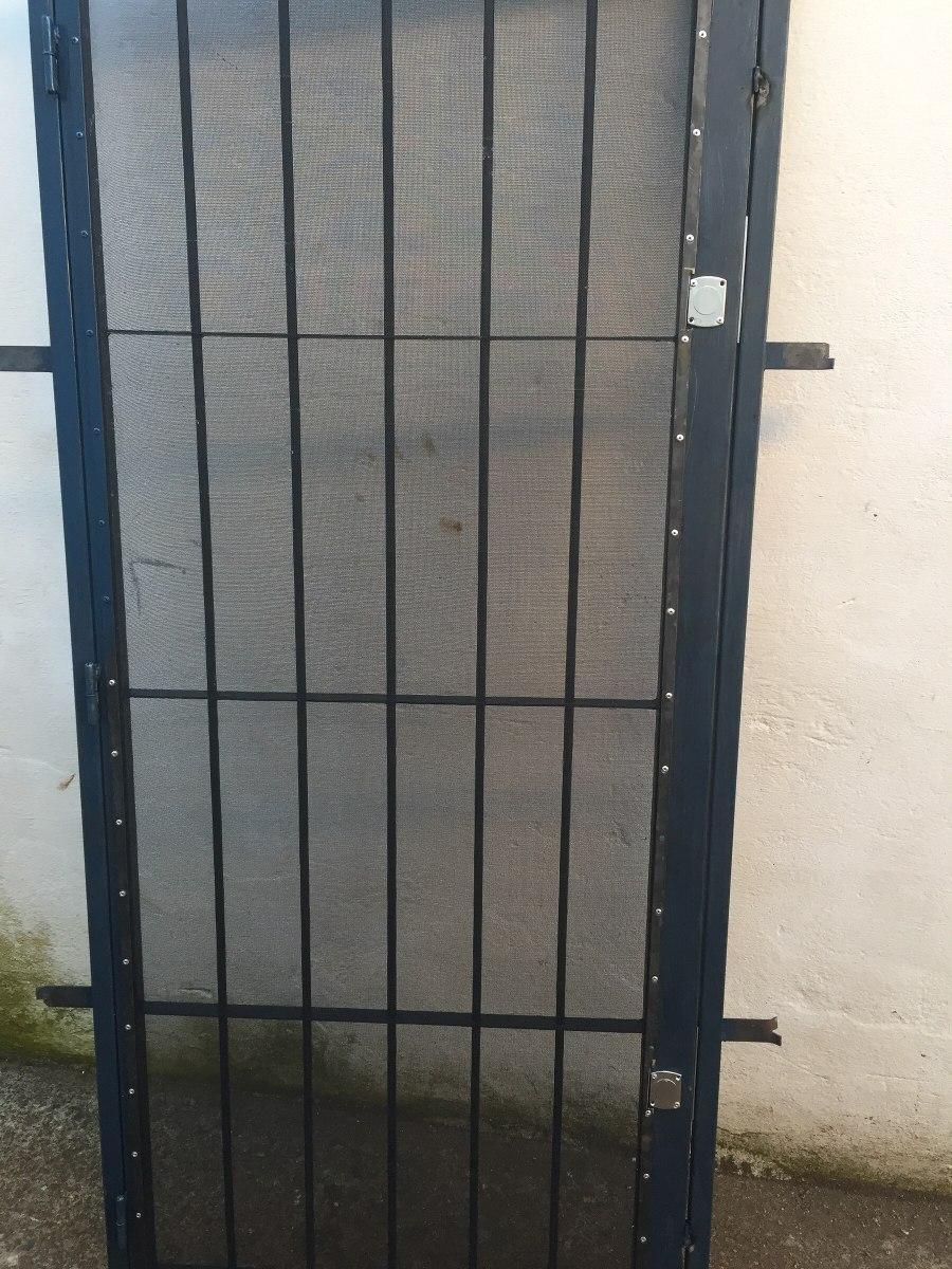 Puertas rejas con mosquitero y sin sencillas y dobles hi 49 00 en mercado libre - Puertas de reja ...