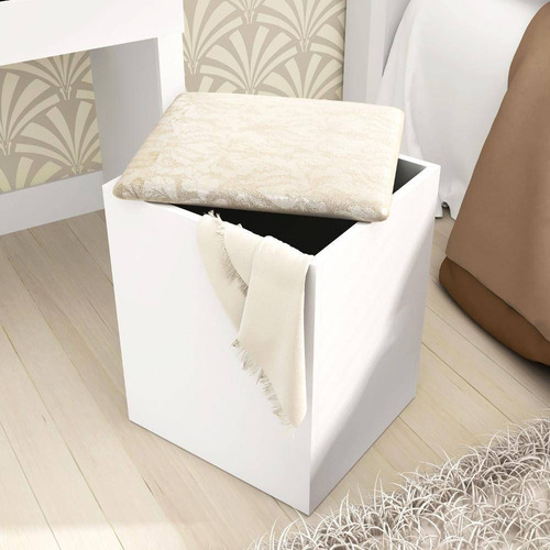 puff banco baúl tapizado asiento silla pu2050