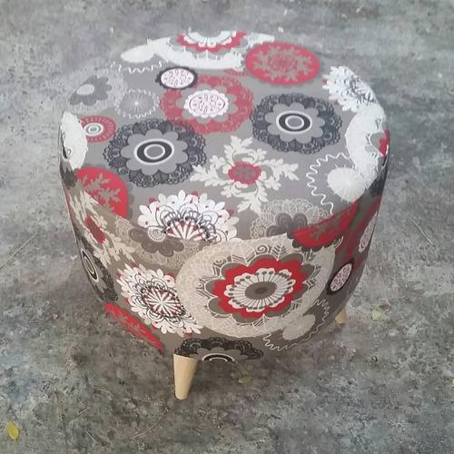 puff banqueta otomano patas de madera