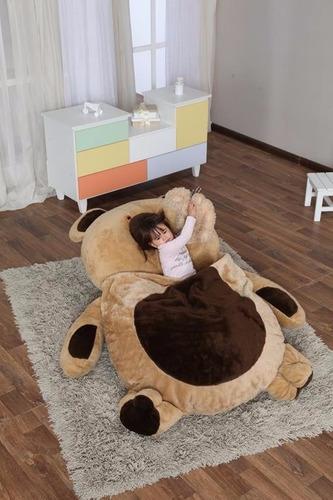puff cama colchonete pelúcia com coberta 2,00m x 1,50m urso