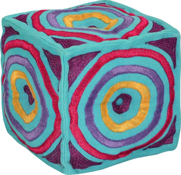 Puff cuadrados tejido varios colores living divino 1 - Puff cuadrados ...