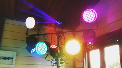 puff led pista led luces barra de tragos esferas papelitos