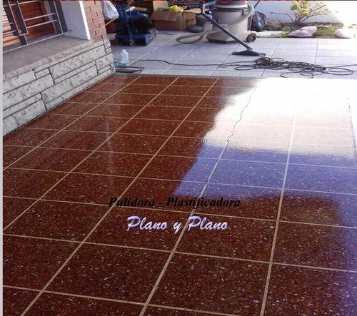pulidor plastificador de piso madera parquet mosaico marmol