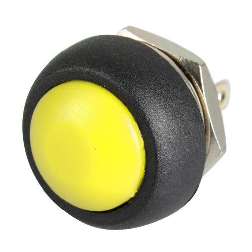 pulsador a prueba de agua boton amarillo 12 mm arduino etc
