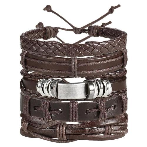pulseiras masculinas masculina couro