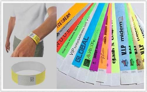 pulsera cinta impresa seguridad - eventos-15 años,cumpleaños