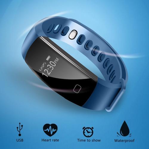 pulsera deportiva smart con monitoreo corazon android/iphone