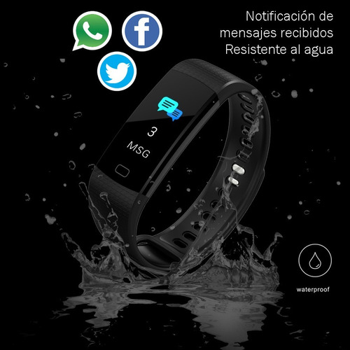 pulsera smart band watch deportes podometro sensor cardiaco®