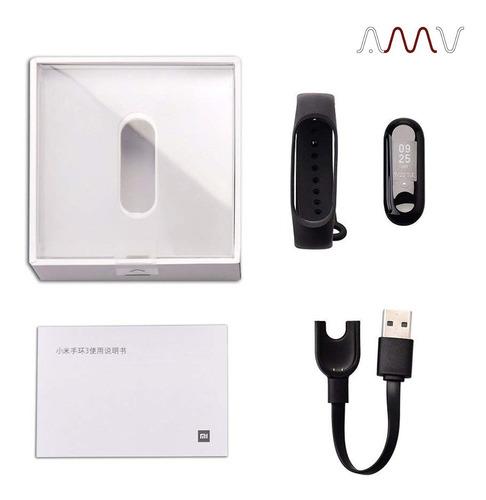 pulsera smartband xiaomi mi band 3 display botón touch amv