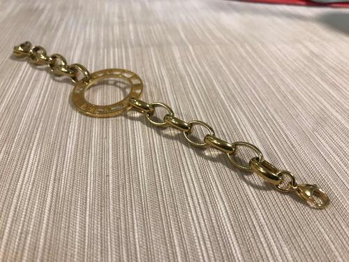 pulsera tipo cartier acero quirúrgico baño de oro