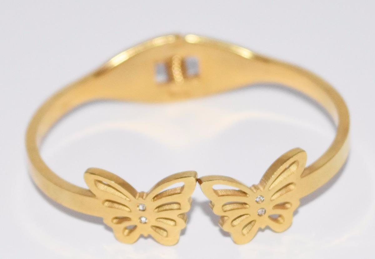 e78f49c1b520 pulsera tipo esclava en acero de niña dorada guilad dhx07. Cargando zoom.