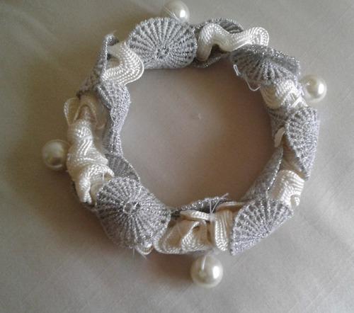 pulseras estilo lolita encaje pasamanería y perla exclusivas