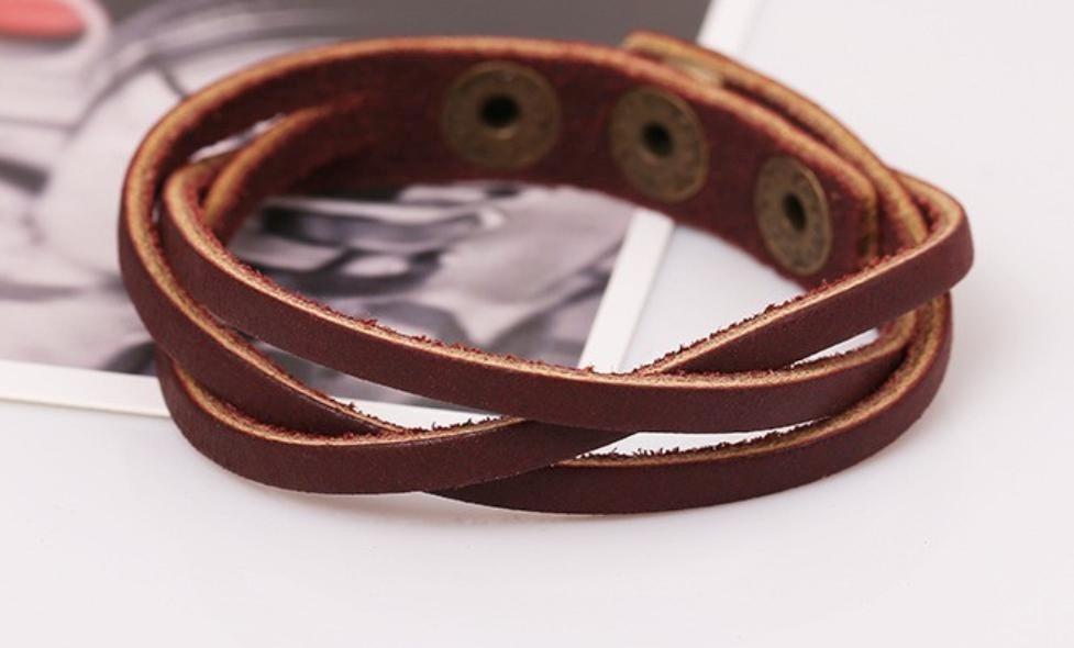 8a77070692f1 pulseras y tobilleras vintage de cuero para mujer y hombre. Cargando zoom.