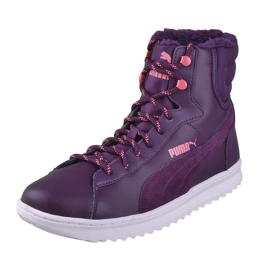 8e3a741b1 puma vikky mid lace up leather violetas de dama del 36 al 41. Cargando zoom.
