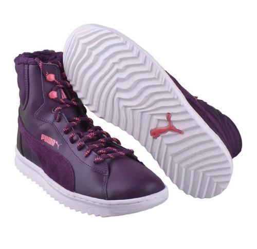 7e7ea32f2 Puma Vikky Mid Lace Up Leather Violetas De Dama Del 36 Al 41 ...