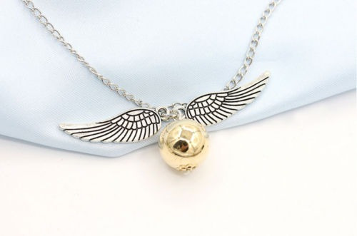 punpunia - collar snitch dorada harry potter