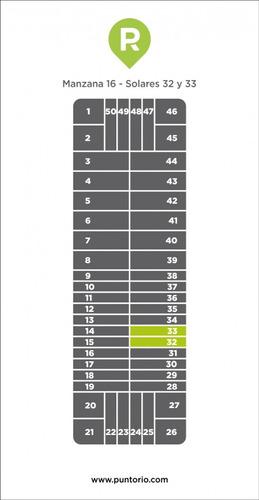 punto río | punta rubia manzana 16 solares 32 y 33