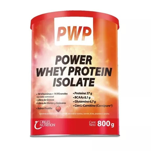 pwp power whey protein isolate cibeles frutilla 800g