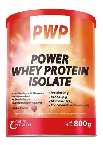pwp power whey protein isolate (frut/vaini) 800gr cibeles