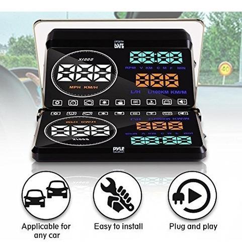 pyle universal 5.5 '' auto hud pantalla de proyecció