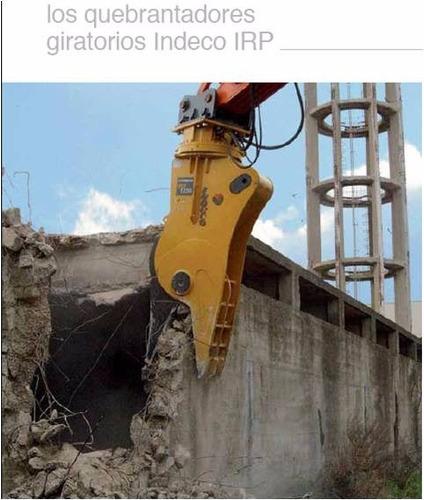 quebrantadores, cizallas y garras indeco para demolición