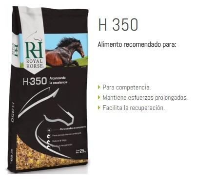 ración equina, royal horse h350 25 kg, alta exigencia
