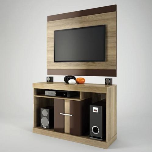 rack con panel mesa tv led televisor san d - dormire