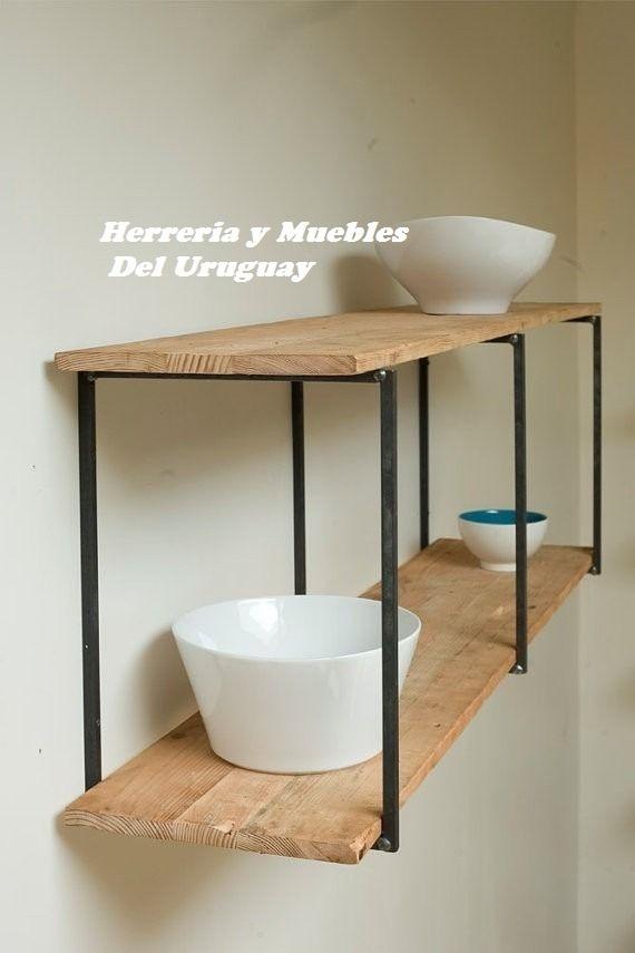 Rack Moderno Para Baño Y Cocina Industrial O Rustico - $ 1.500,00 en ...